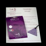 Packaging Leg Tesla Plate Triangle man with antebacterical varnish - Made in Italy