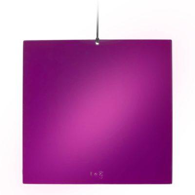 L.E.G. Mirror Tesla Purple Plate 21x21cm made in italy