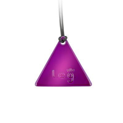 L.E.G. Mirror Tesla Purple Plate Triangle Man - made in italy